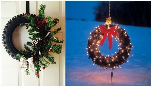 View These Fun Christmas Decor Ideas with Old Tires 6
