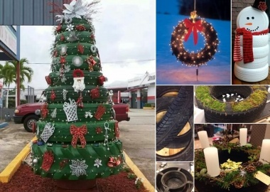 View These Fun Christmas Decor Ideas with Old Tires fi