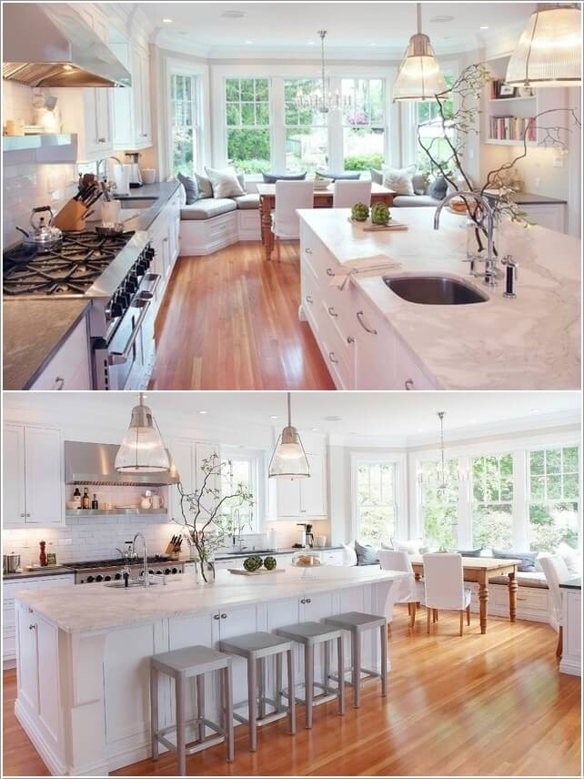 What Kind of Flooring Looks Good in a White Kitchen 1