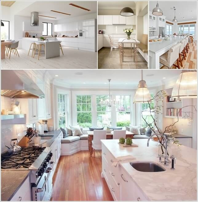 What Kind of Flooring Looks Good in a White Kitchen a