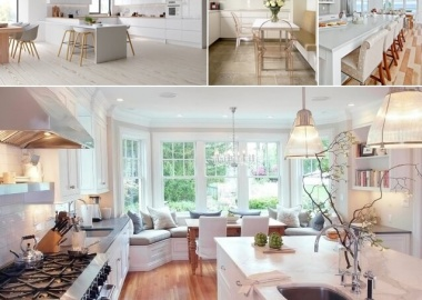 What Kind of Flooring Looks Good in a White Kitchen fi
