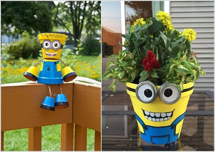 10 Cool Clay Pot Garden Crafts for You to Try 6