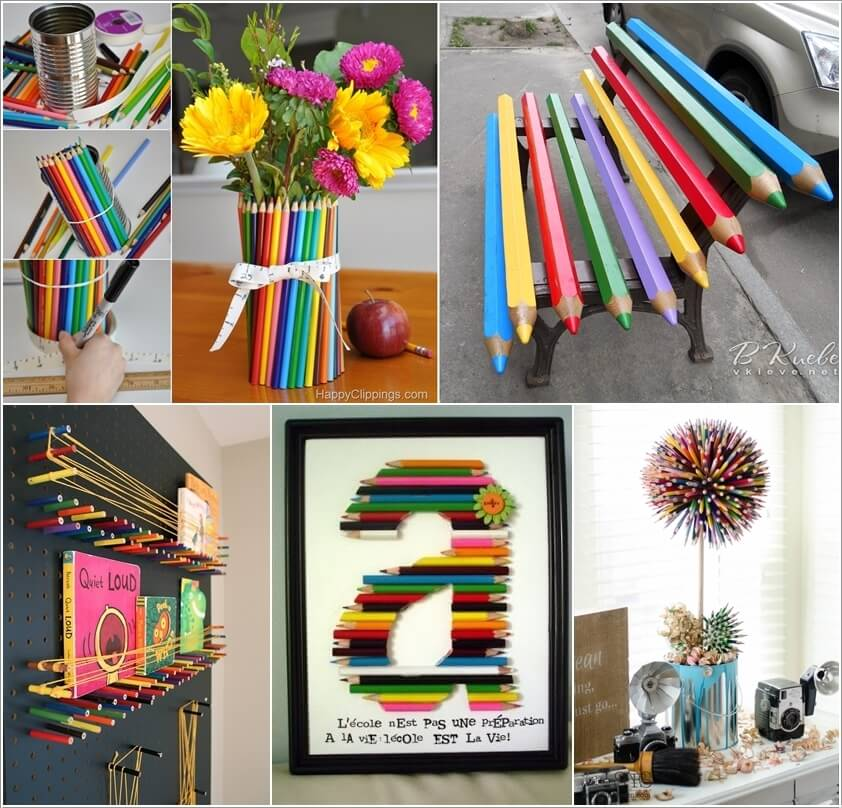 10 Cool Color Pencil Inspired Home Decor Ideas a