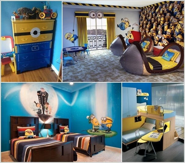 10 cute and cool minions kids room ideas for Cool kids bedroom designs