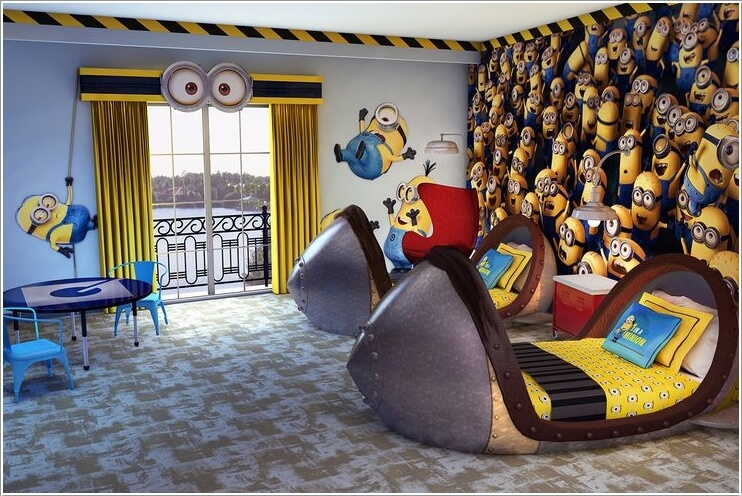 10 Cute and Cool Minions Kids Room Ideas 3