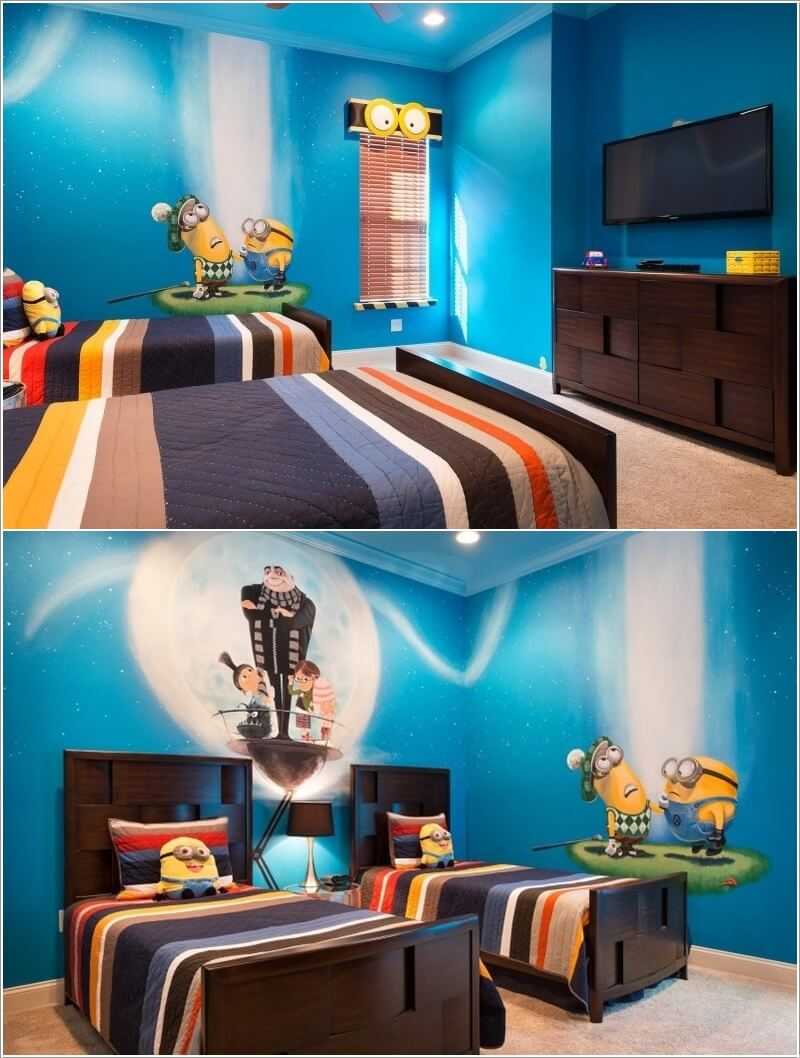 10 Cute and Cool Minions Kids Room Ideas 10