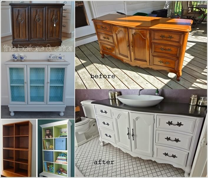 Furniture makeovers before and after home design ideas Before and after interior design projects