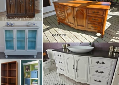 10 Fabulous Before and After Furniture Makeover Projects fi
