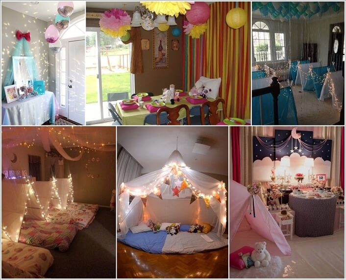 10 super cute slumber party decor ideas - Party Decorating Ideas