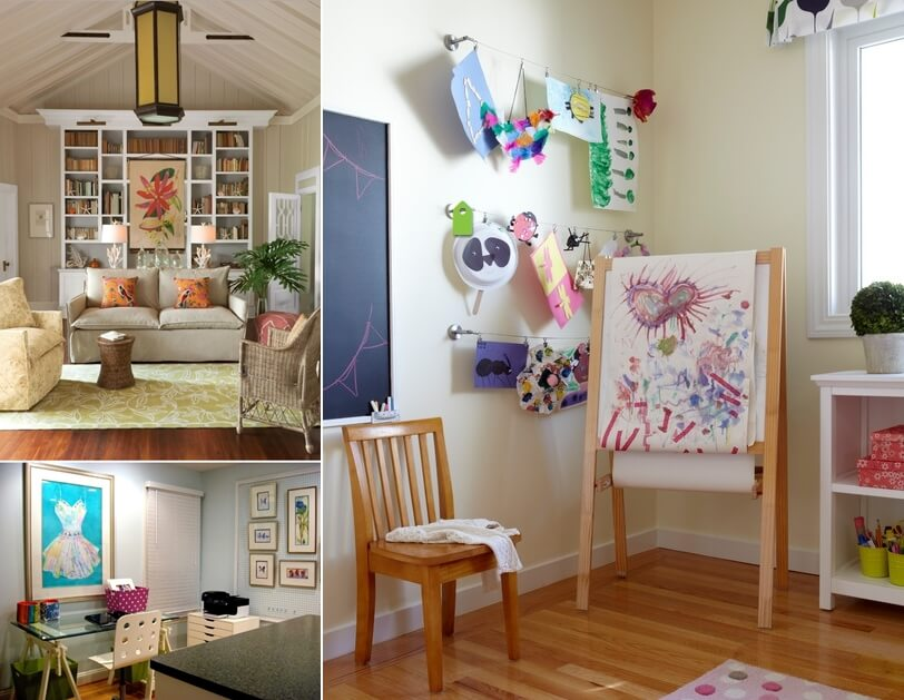27 gorgeous hang art without nails Hang up paintings without nails