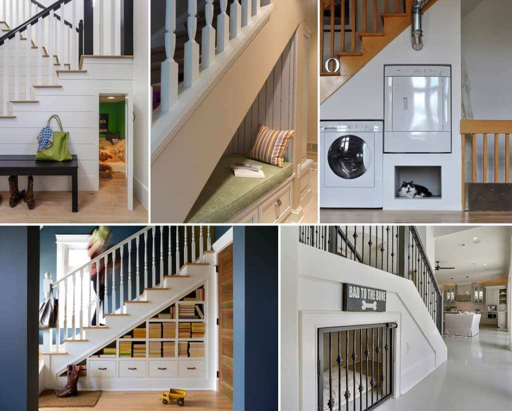 Cleverly Utilize The Space Under The Stairs
