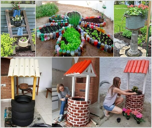 Make an outdoor feature from recycled materials for Home decor ideas from recycled materials