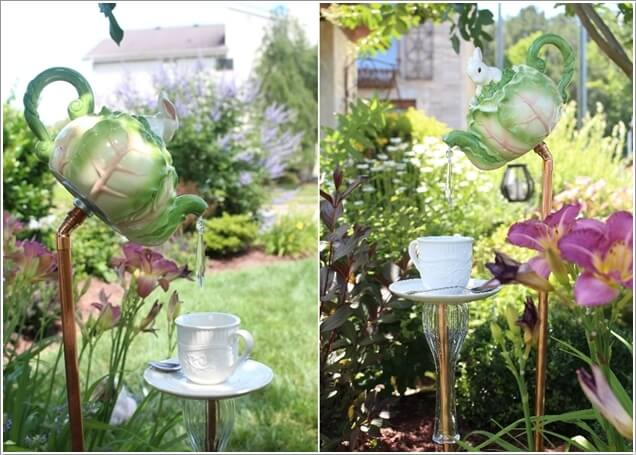Make An Outdoor Feature from Recycled Materials 3