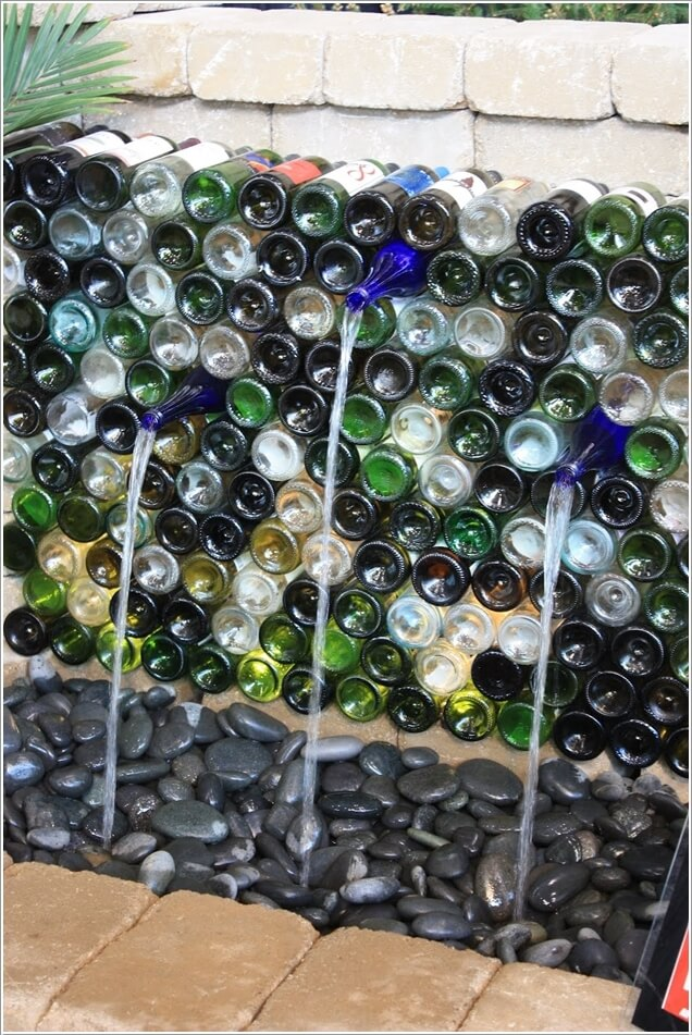 Make An Outdoor Feature from Recycled Materials 4