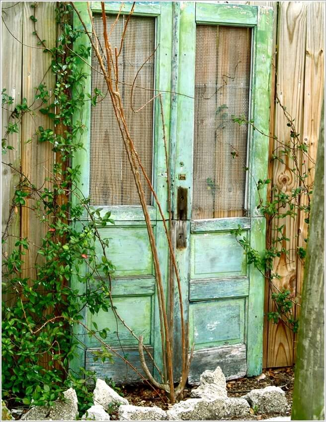 Make An Outdoor Feature from Recycled Materials 6
