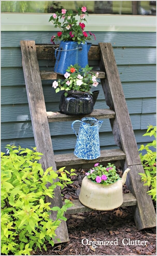 Make An Outdoor Feature from Recycled Materials 8