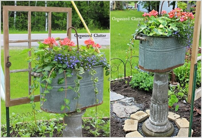 Make An Outdoor Feature from Recycled Materials 9