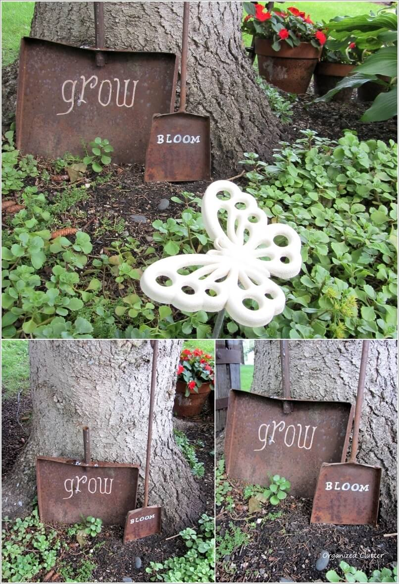 Make An Outdoor Feature from Recycled Materials 10