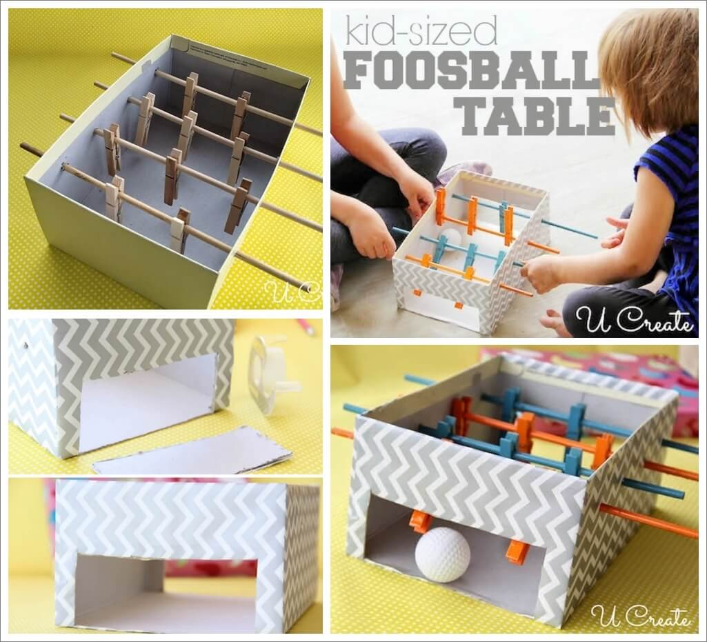 Make This Cute Mini Football Table for Your Kids 1