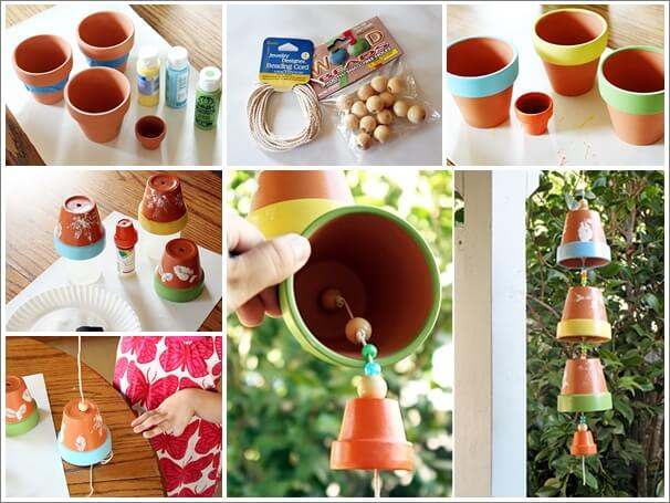This Clay Pot Wind Chime is So Lovely 1