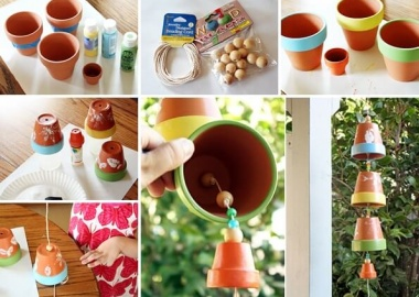 This Clay Pot Wind Chime is So Lovely fi