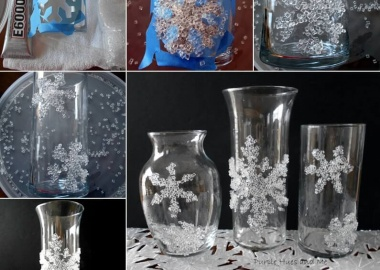 This Decorative Filler Snowflake Glass Decor Idea is So Clever fi
