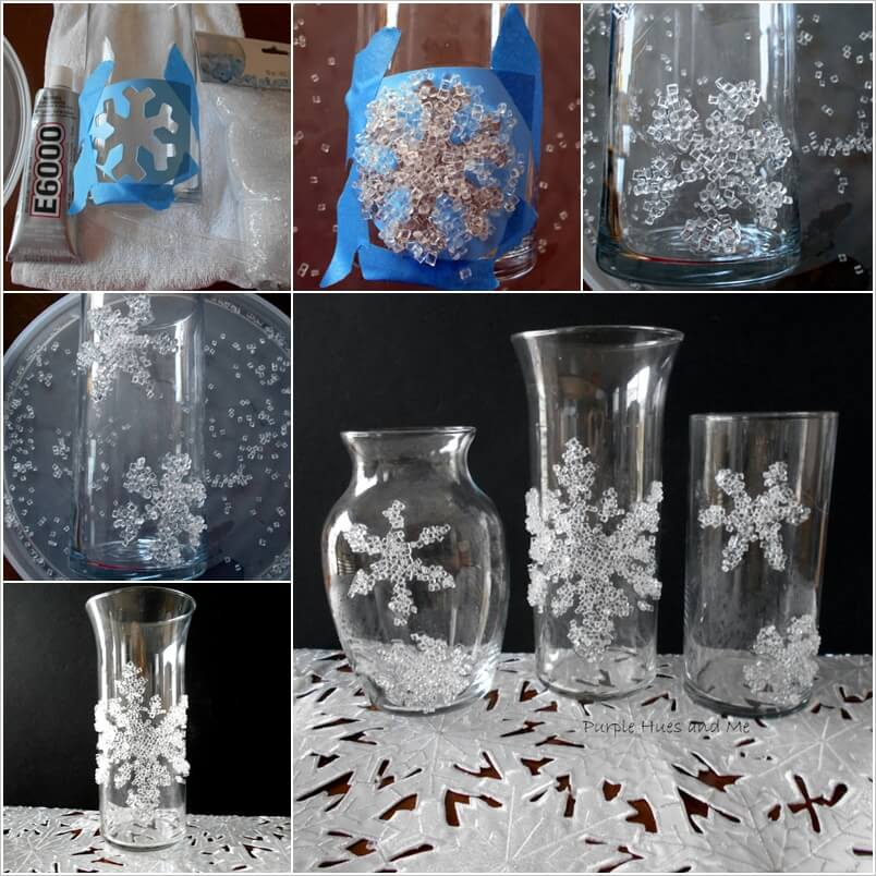 This Decorative Filler Snowflake Glass Decor Idea is So Clever 1