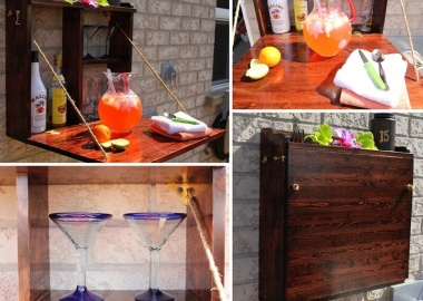 This Fold Down Outdoor Bar is Just Amazing fi