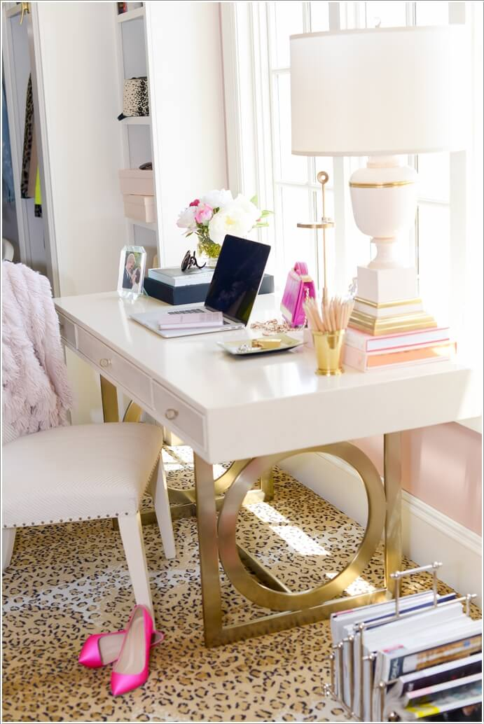 10 chic and beauteous home office desk ideas Office desk decoration ideas