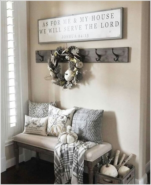 Foyer Chair Quotes : Chic ways to decorate your entryway wall
