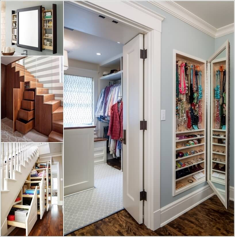 small bedroom closet organization ideas - 10 Clever Hidden Storage Ideas for Your Home