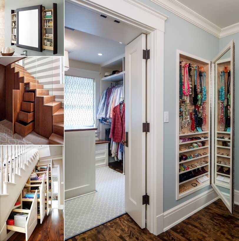 10 clever hidden storage ideas for your home for Hidden storage ideas