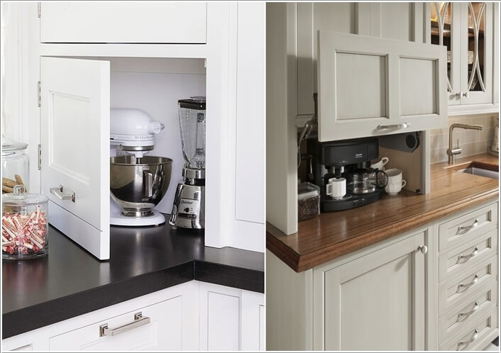 10 clever hidden storage ideas for your home for Hidden kitchen storage ideas