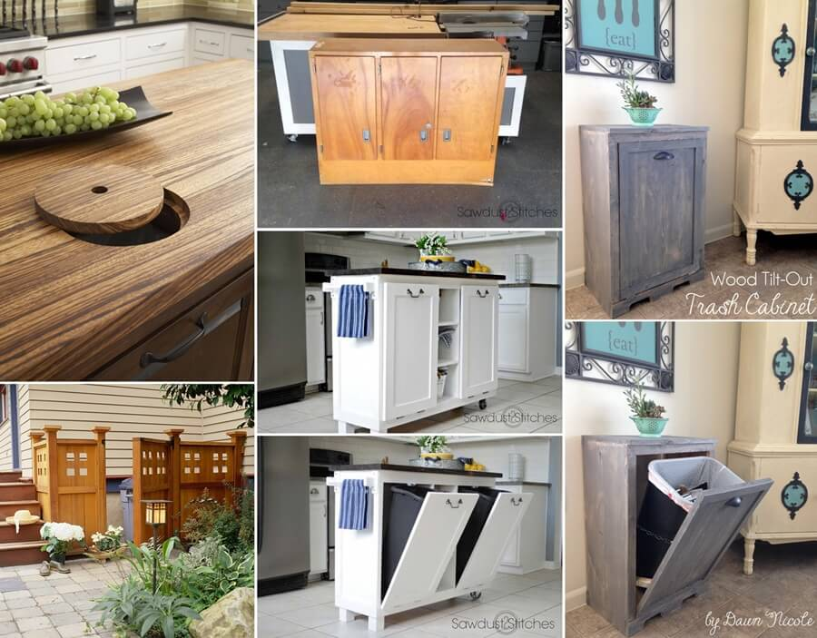 10 Clever Ways To Hide A Trash Can