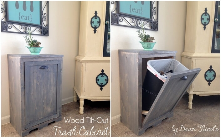 10 Clever Ways to Hide a Trash Can 1