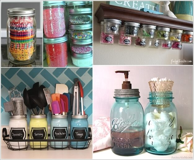 10 Clever Ways to Use Mason Jars for Storage a