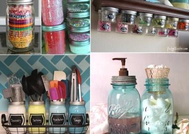 10 Clever Ways to Use Mason Jars for Storage fi