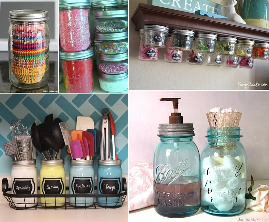 10 Clever Ways To Organize With Mason Jars