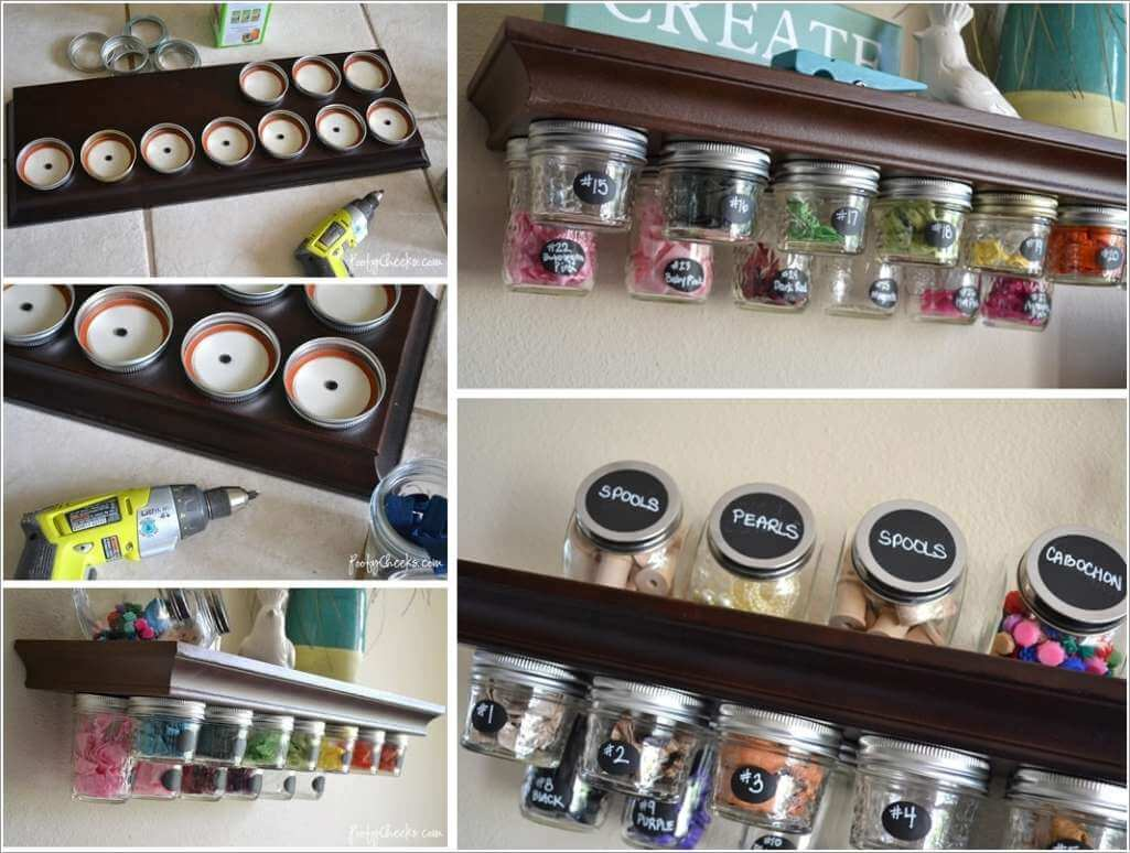 10 Clever Ways to Use Mason Jars for Storage 6