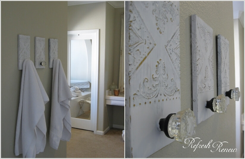 15 Cool DIY Towel Holder Ideas for Your Bathroom 3