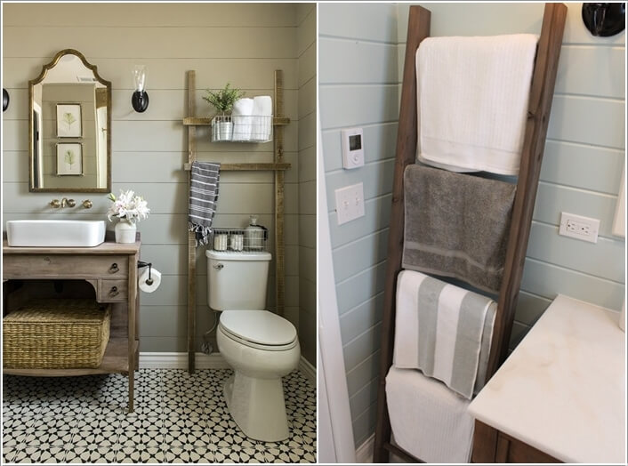 15 Cool DIY Towel Holder Ideas For Your Bathroom 14