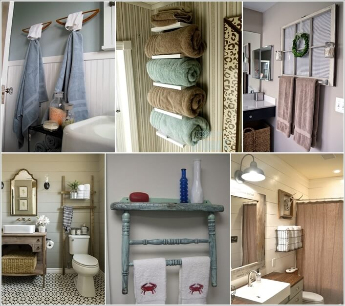 Bathroom Towel Rack | 15 Cool Diy Towel Holder Ideas For Your Bathroom