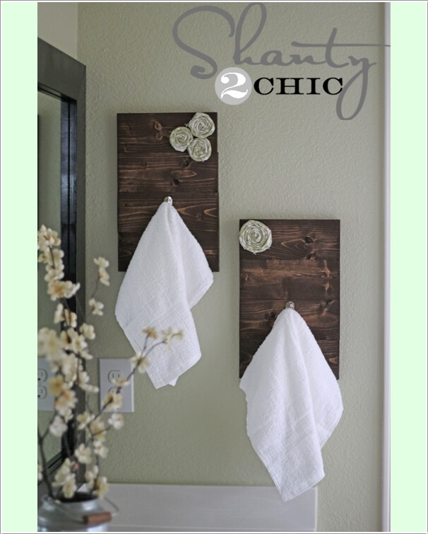 15 Cool DIY Towel Holder Ideas for Your Bathroom 7