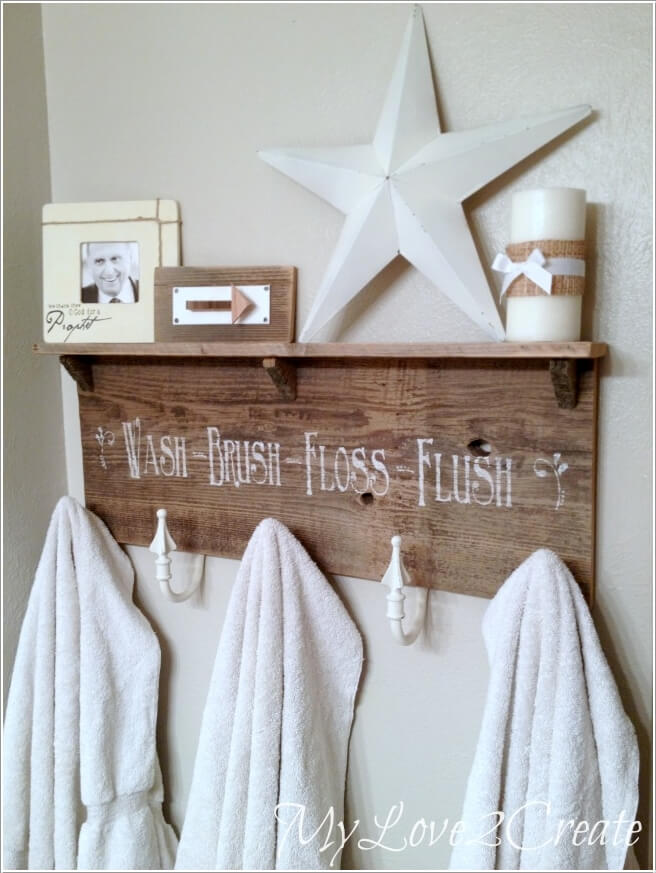 15 Cool DIY Towel Holder Ideas for Your Bathroom 9