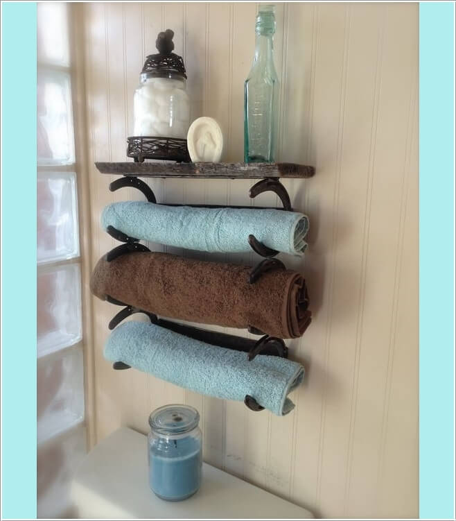 15 Cool DIY Towel Holder Ideas for Your Bathroom 10