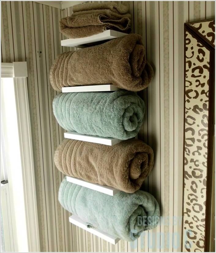 15 Cool DIY Towel Holder Ideas for Your Bathroom 2