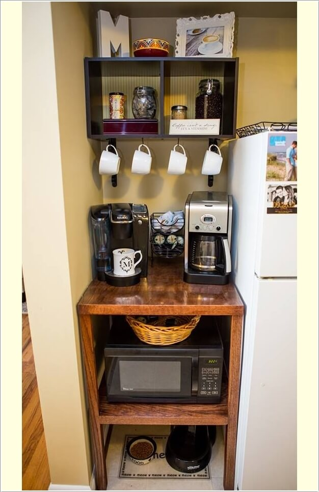 10 Places in Your Home Where You Can Set Up a Coffee Station 4