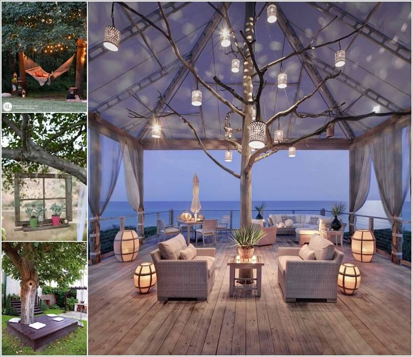 5 Amazing Interior Landscaping Ideas To Liven Up Your Home: 10 Wonderful Ideas To Decorate An Outdoor Tree