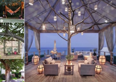 10 Wonderful Ideas to Decorate An Outdoor Tree fi