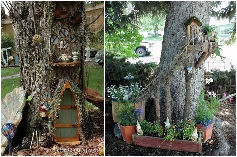 10 Wonderful Ideas to Decorate An Outdoor Tree 5